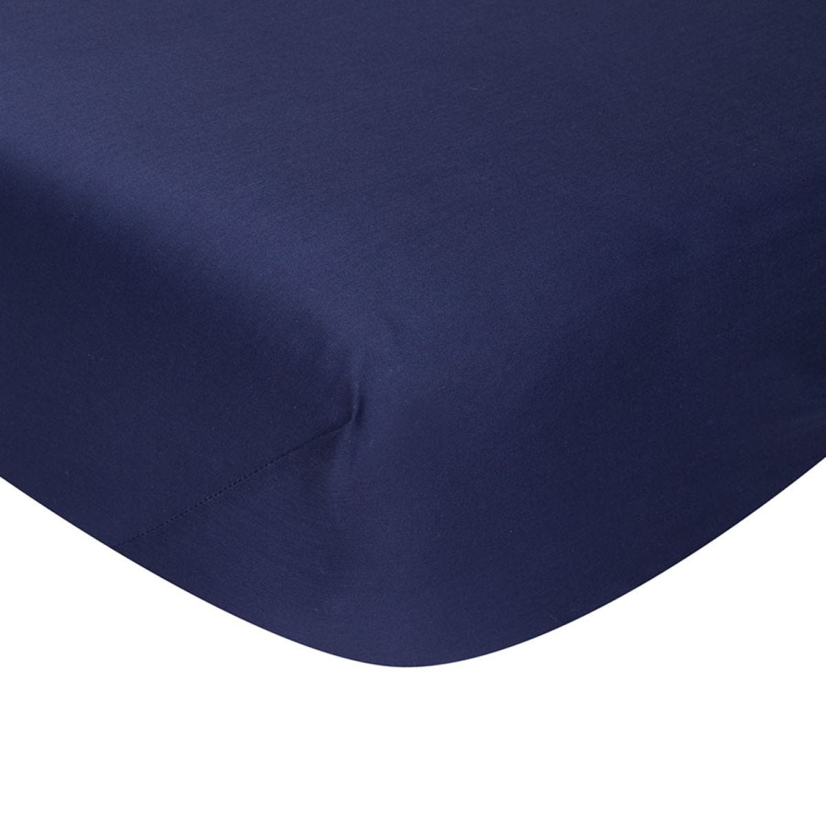 Catherine Lansfield Non-Iron Fitted Sheet - Navy