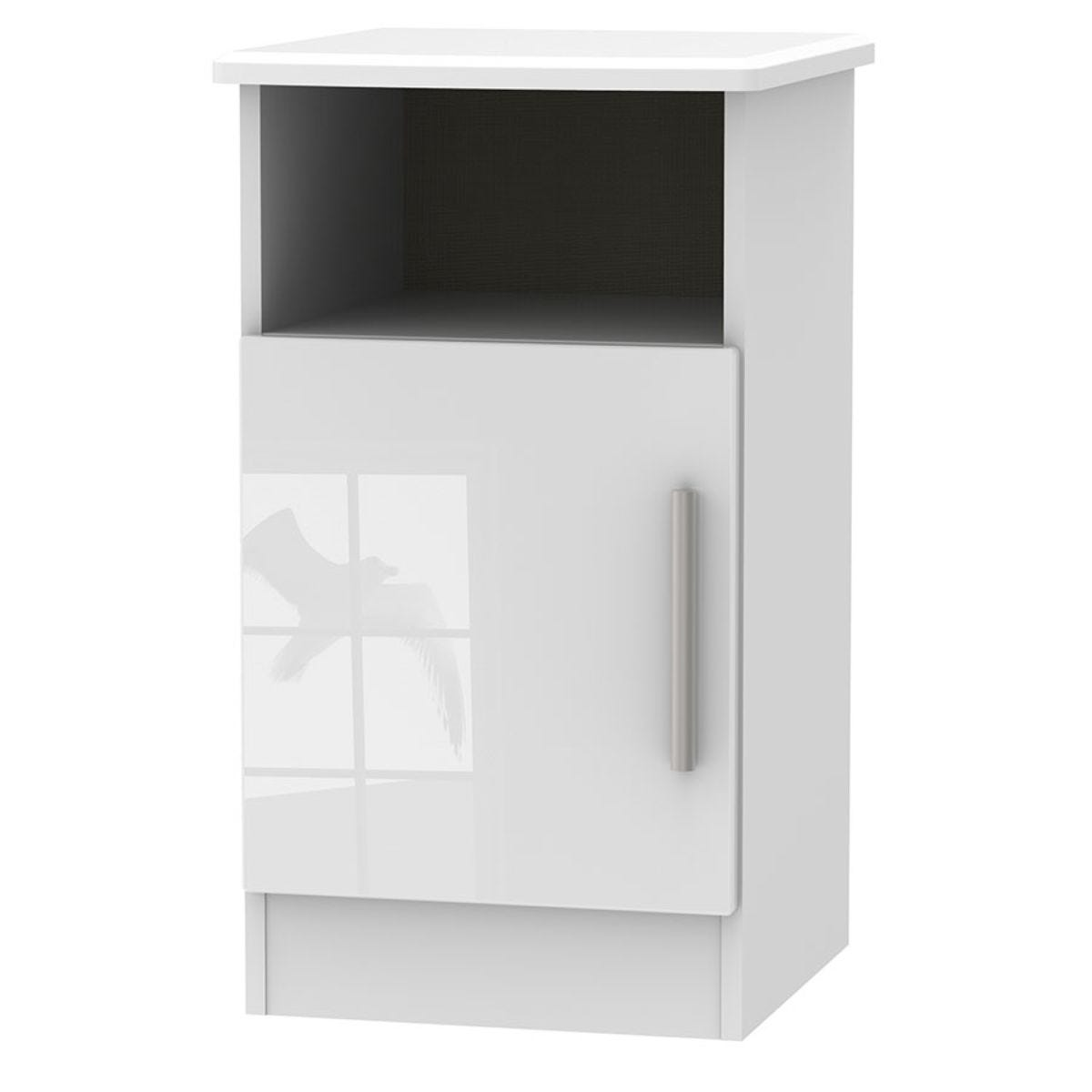 Fourisse 1-Door Bedside Table - White