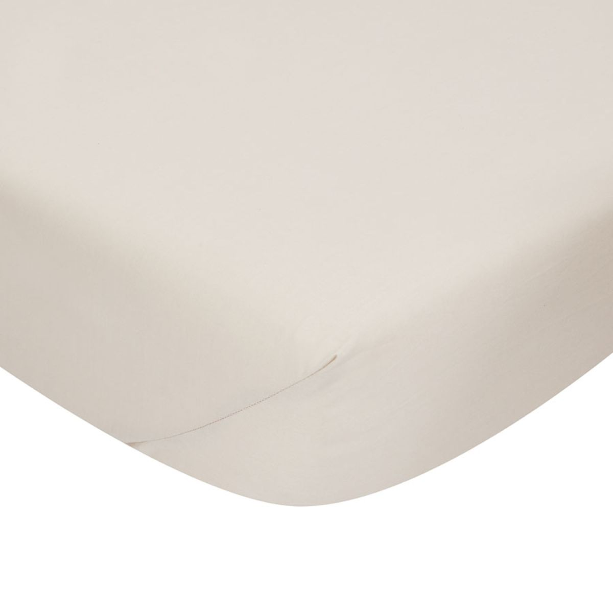 Catherine Lansfield Non-Iron Fitted Sheet - Natural