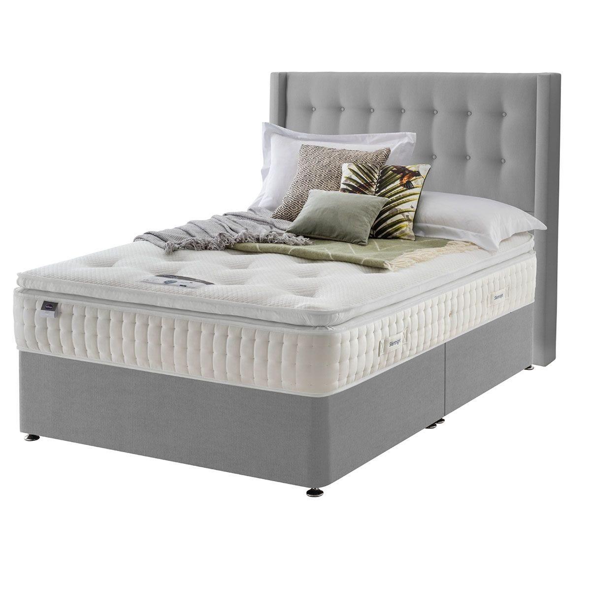 Silentnight Mirapocket Latex 1400 Non Storage Divan Bed - Grey Double