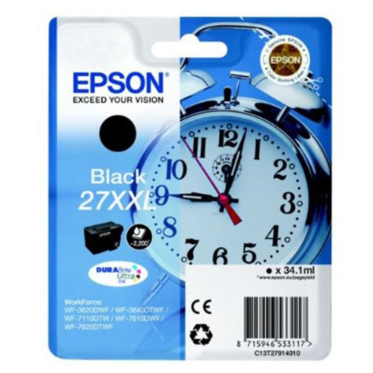 Epson Alarm Clock Ink Cartridge T2791XXL – Black