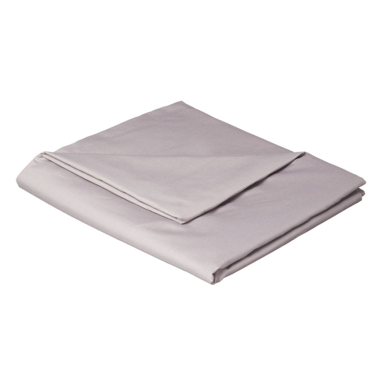Catherine Lansfield Non-Iron Plain Dye Flat Sheet - Grey