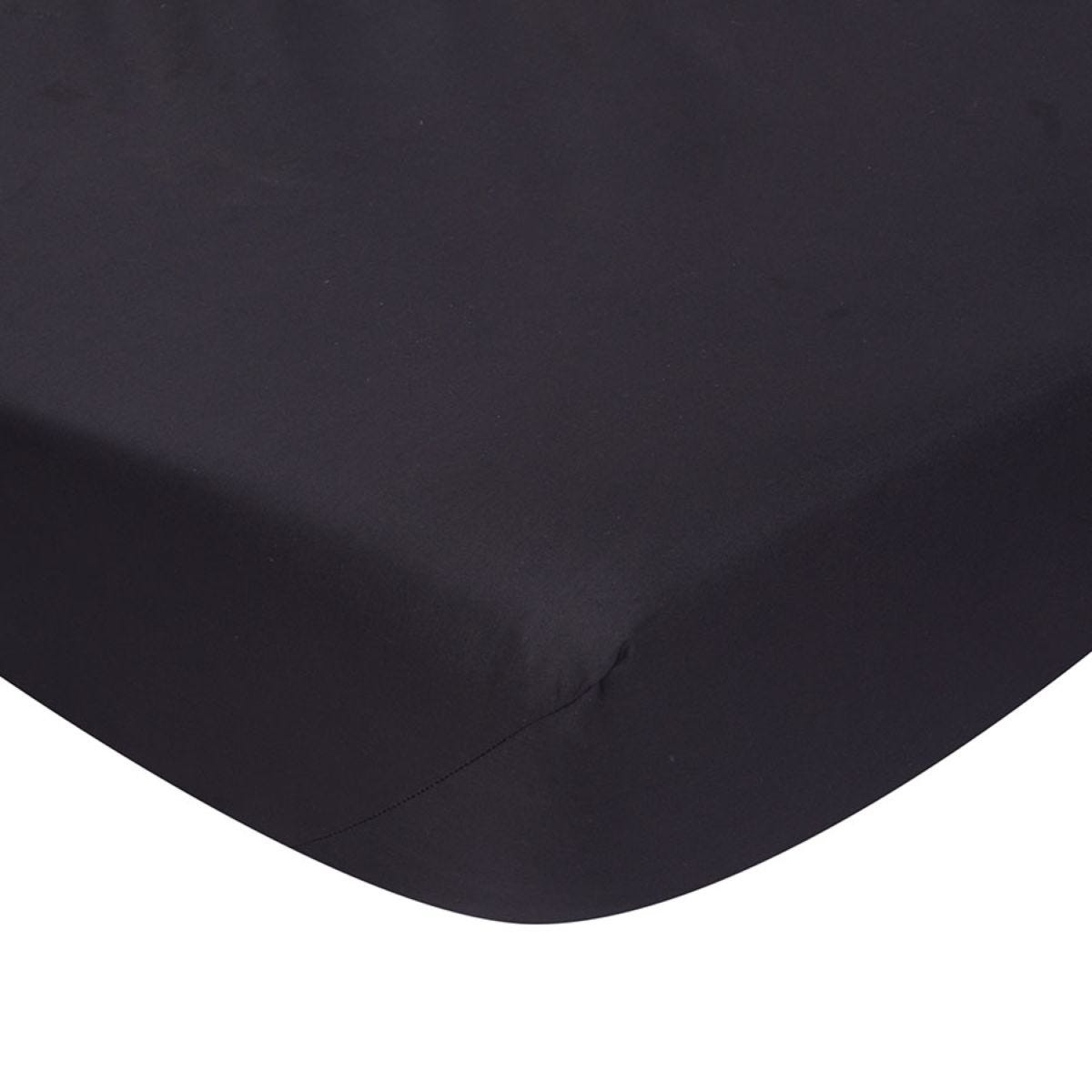 Catherine Lansfield Non-Iron Fitted Sheet - Black