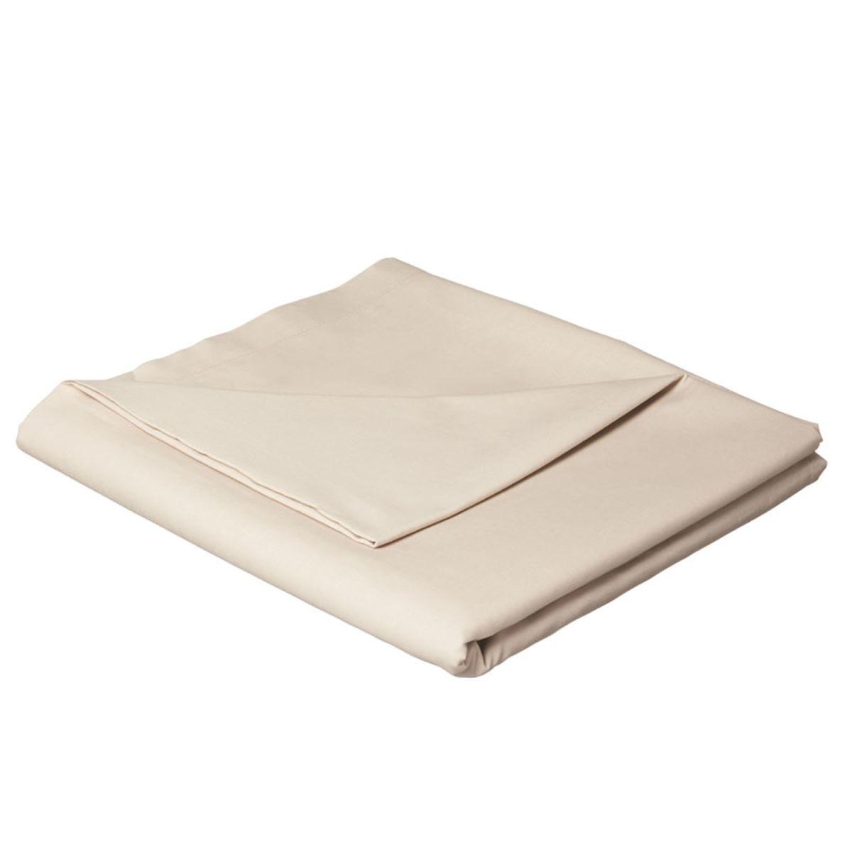 Catherine Lansfield Non-Iron Plain Dye Flat Sheet - Natural
