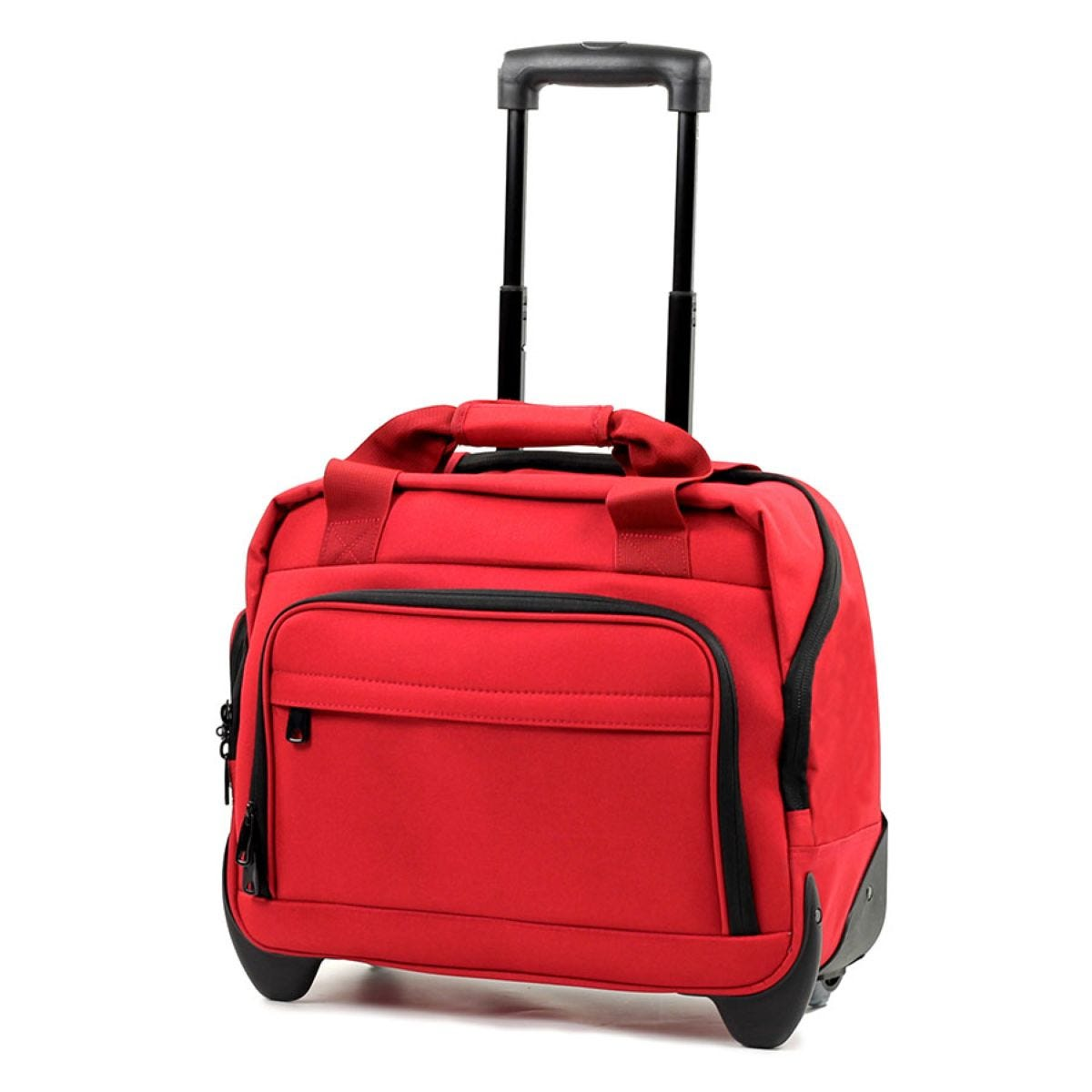 Members by Rock Luggage Essential Laptop Case on Wheels – Red