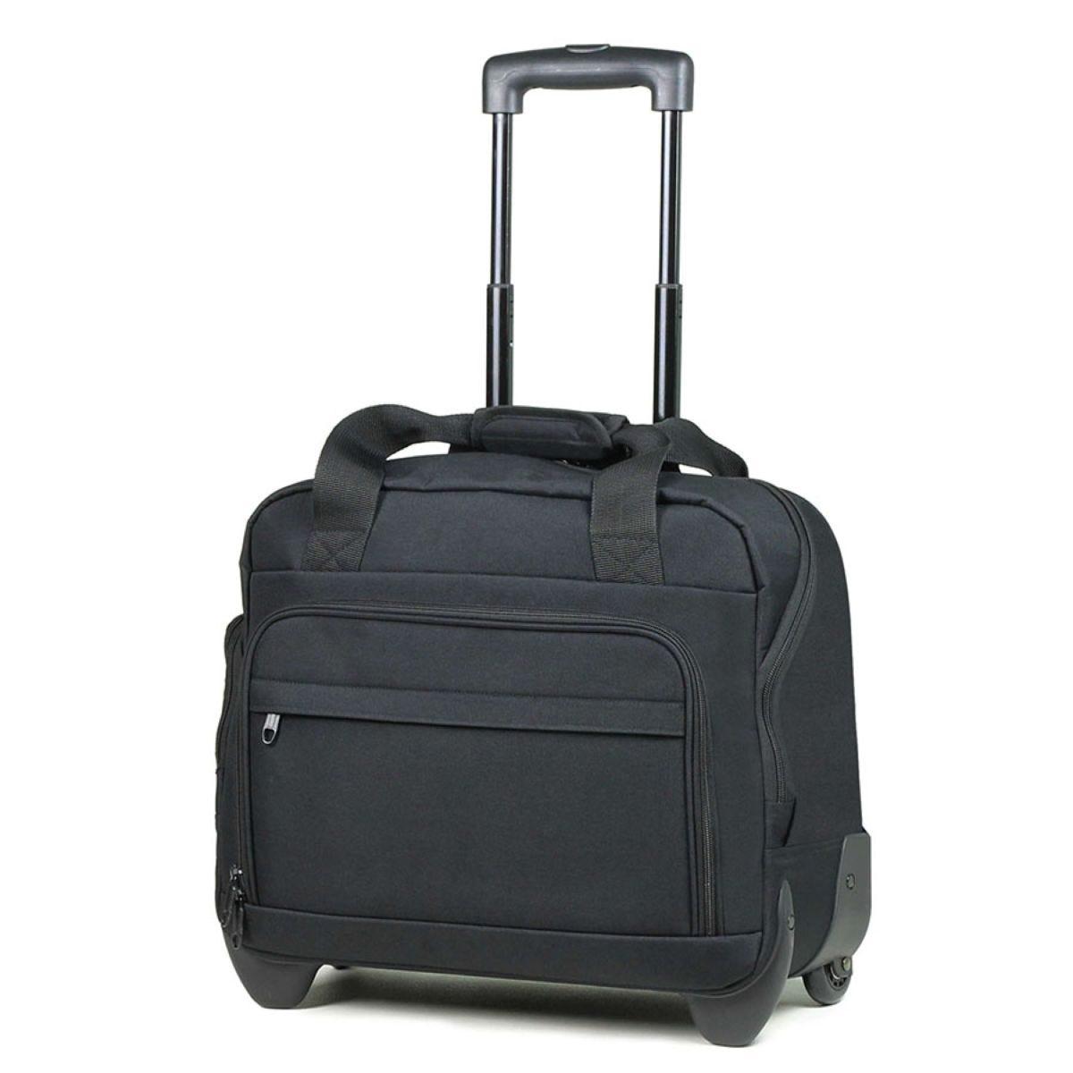 Members by Rock Luggage Essential Laptop Case on Wheels – Black