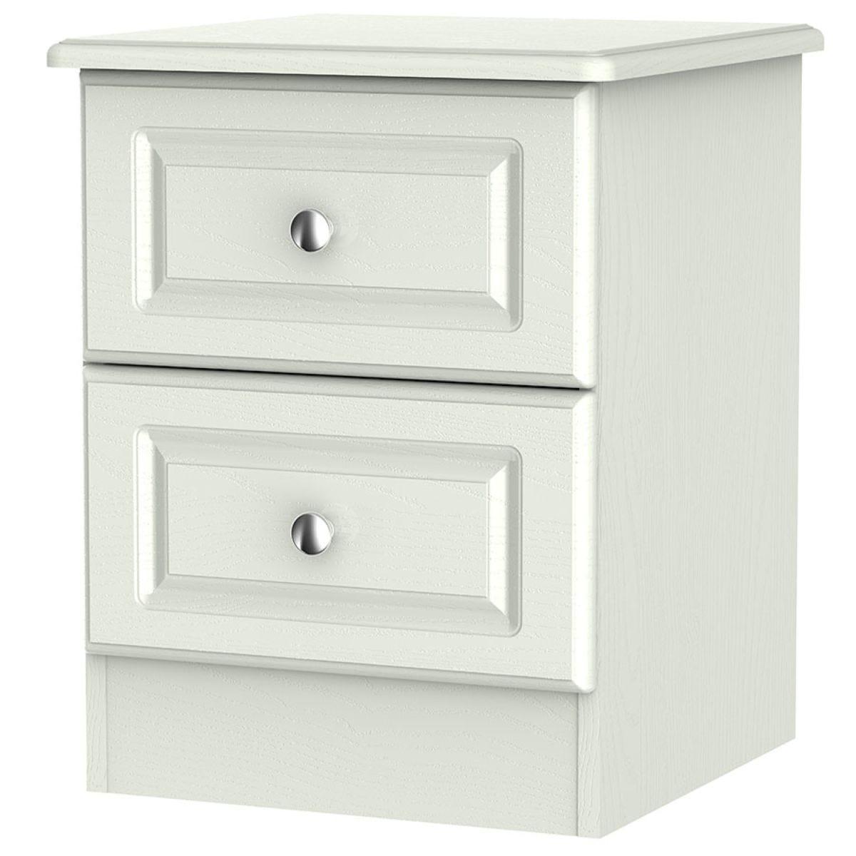 Montego 2-Drawer Bedside Table - Ash Grey
