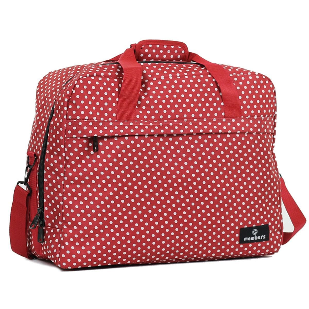 Members by Rock Luggage Essential Carry-On Travel Bag - Red Polka Dots