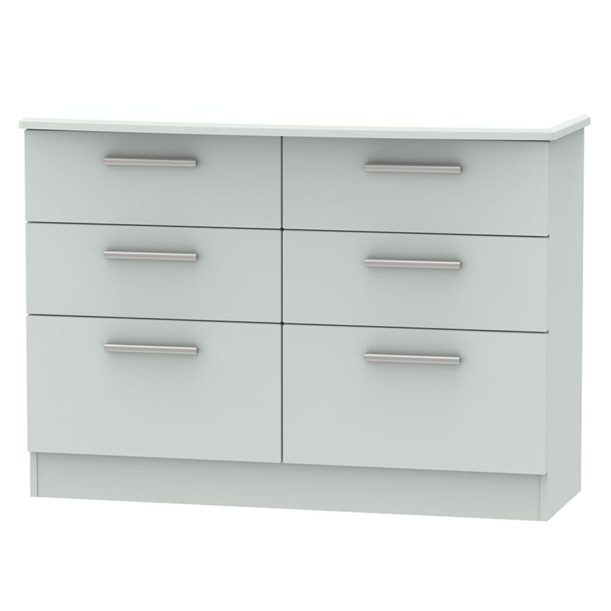 Fourisse 6-Drawer Midi Chest of Drawers - Grey