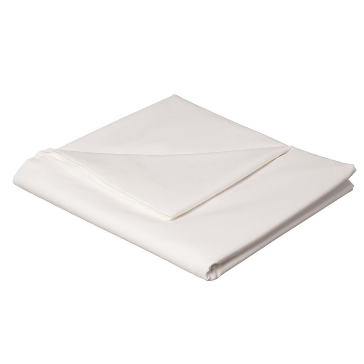 Catherine Lansfield Non-Iron Plain Dye Flat Sheet - White