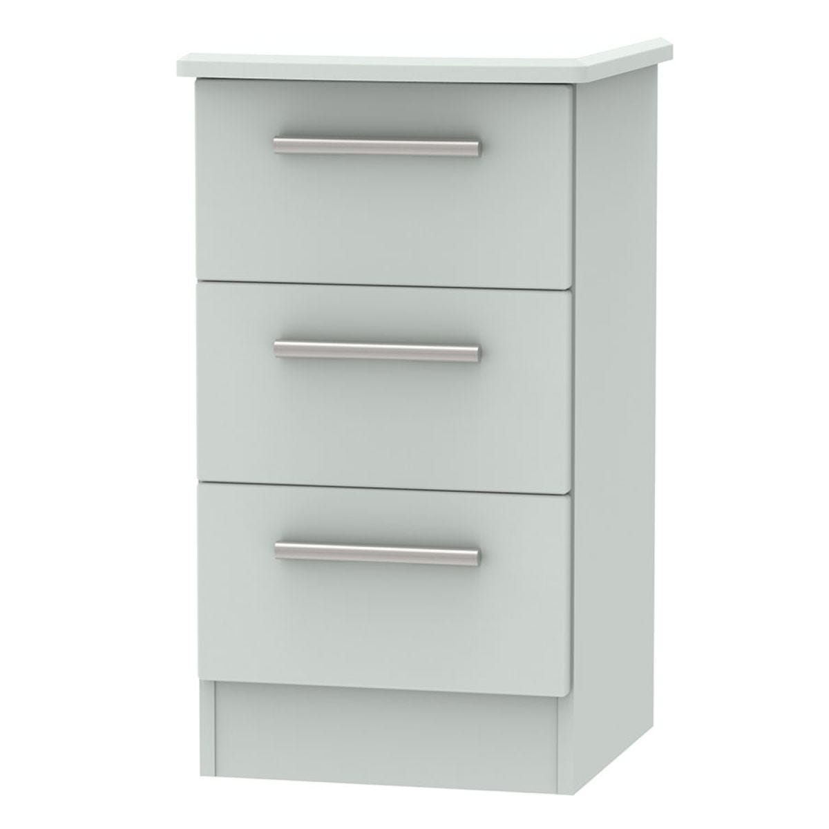 Fourisse 3-Drawer Bedside Table - Grey