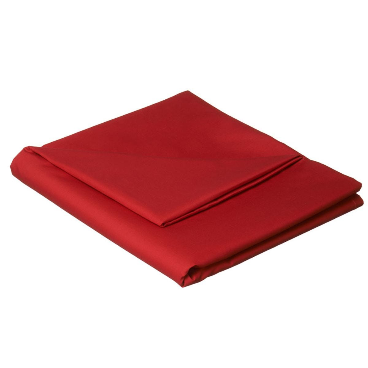 Catherine Lansfield Non-Iron Plain Dye Flat Sheet - Red