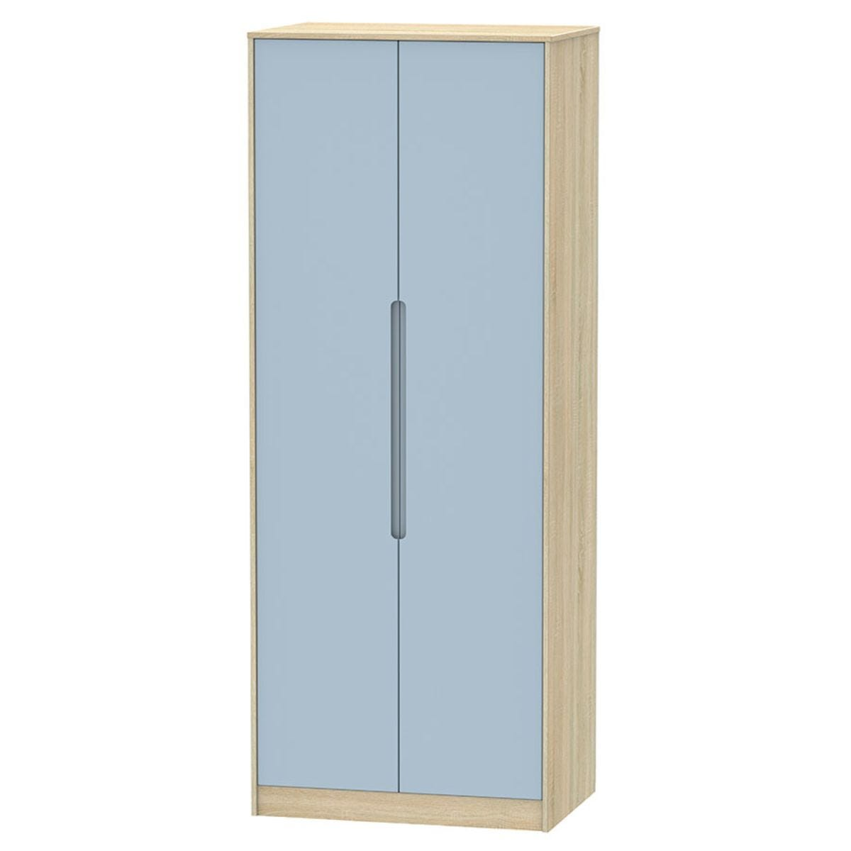 Barquero Tall 2-Door Wardrobe - Pine/Denim