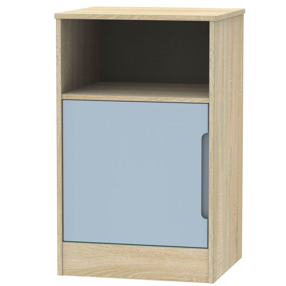 Barquero 1-Door Bedside Table - Pine/Denim