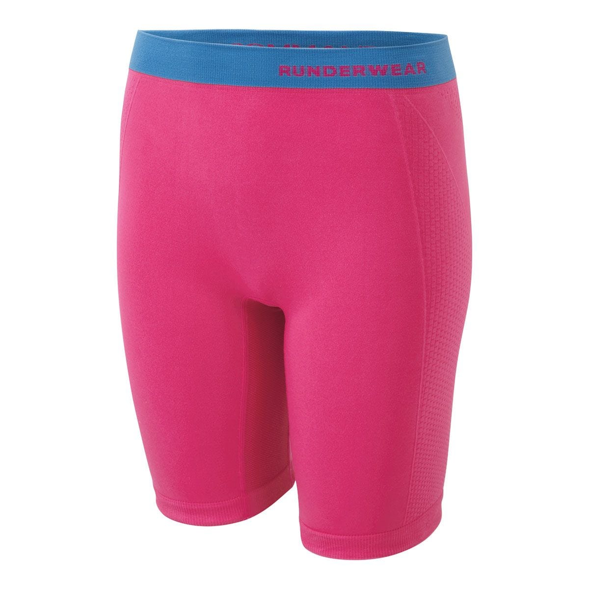 Runderwear Women's Long Shorts - Chafe-Free Extra Extra Large - Pink