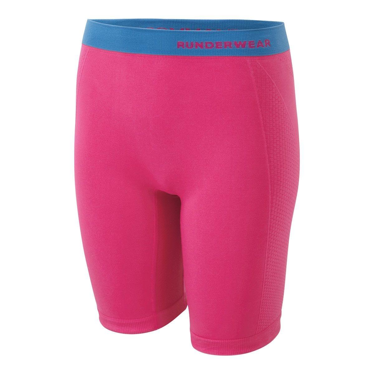 Runderwear Women's Long Shorts Chafe-Free - Pink