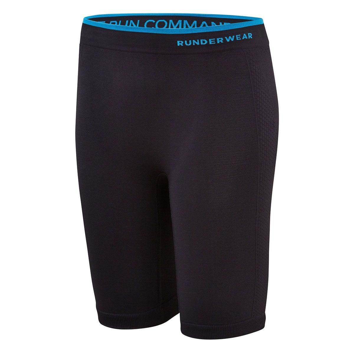 Runderwear Women's Long Shorts - Chafe-Free Medium-Black
