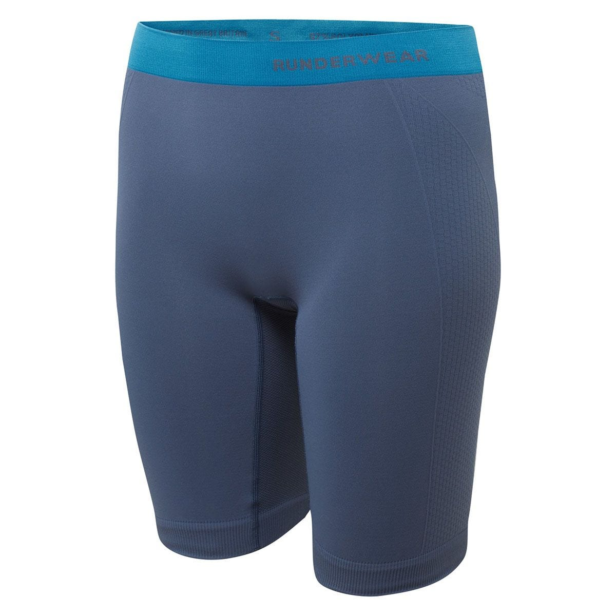 Runderwear Women's Long Shorts Chafe-Free - Blue/Cyan