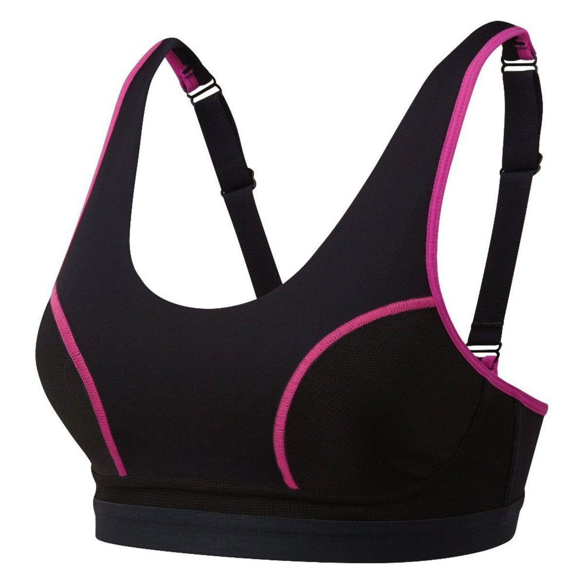 Runderwear Original Support Running Bra - Black/Pink