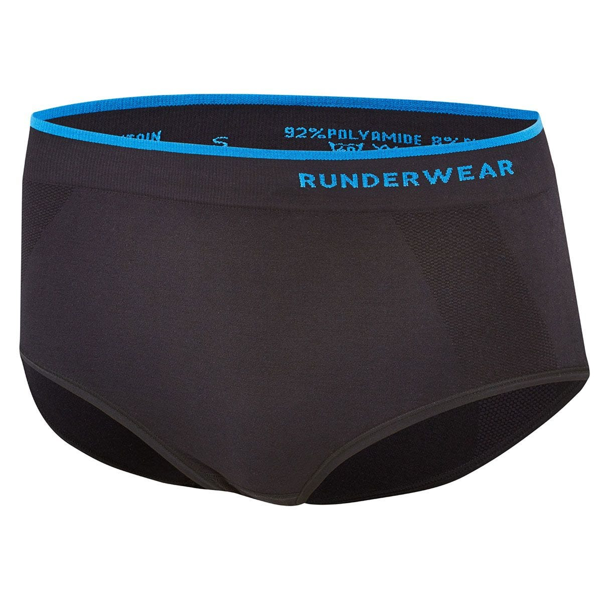 Runderwear Women's Running Briefs Medium - Black