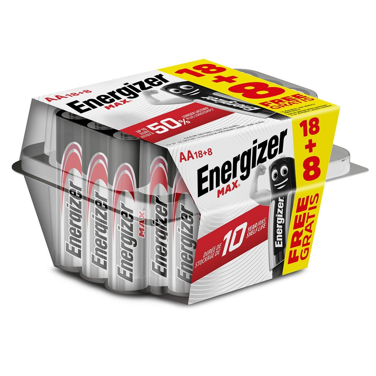 Energizer Max AA Batteries - 18 + 8 Pack