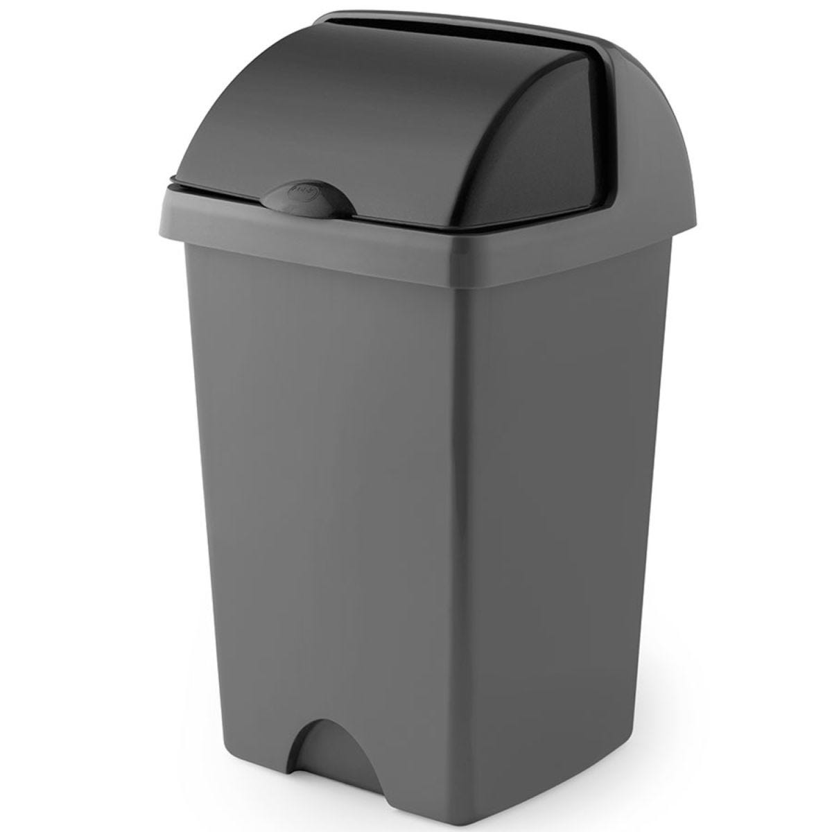 Addis 25L Roll Top Bin - Metallic