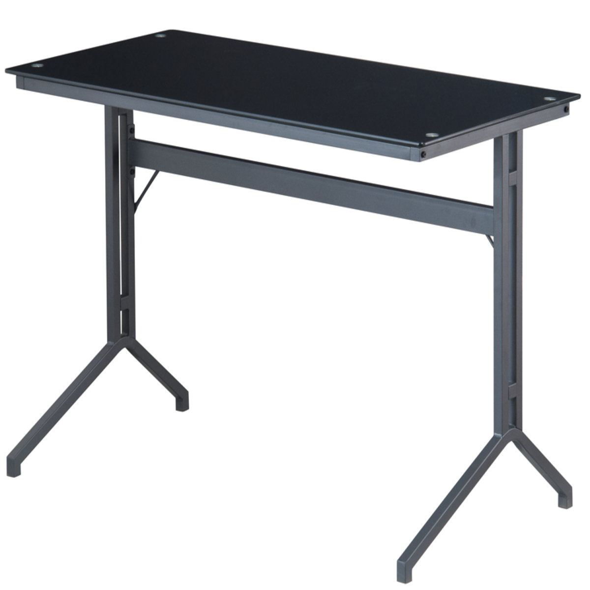 Alphason Splice Glass Office Desk – Black