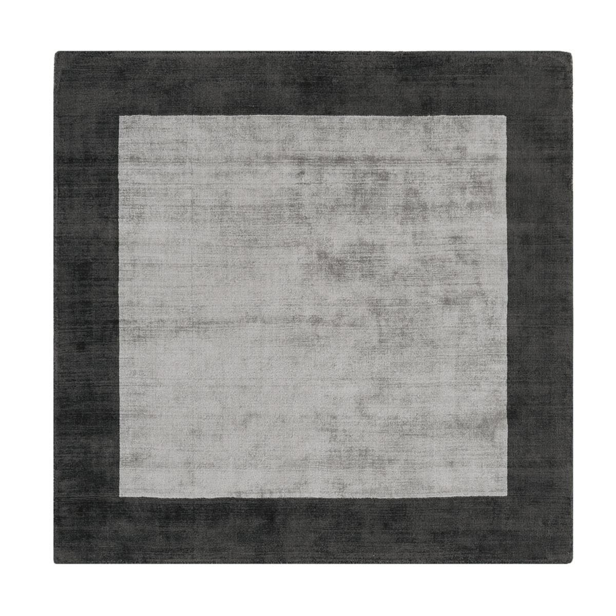 Asiatic Blade Rug, 200 x 200cm – Charcoal/Silver