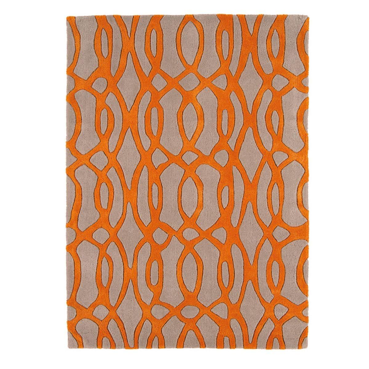 Asiatic Matrix Rug, 120 x 170cm - Orange