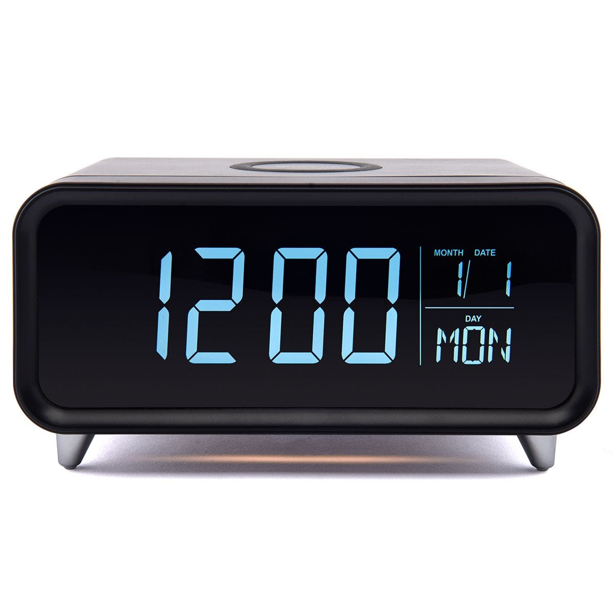 Groov-e Athena Alarm Clock & Wireless Charger - Black