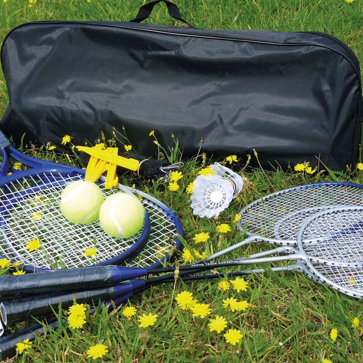 Mightymast Badminton and Tennis Combo Set