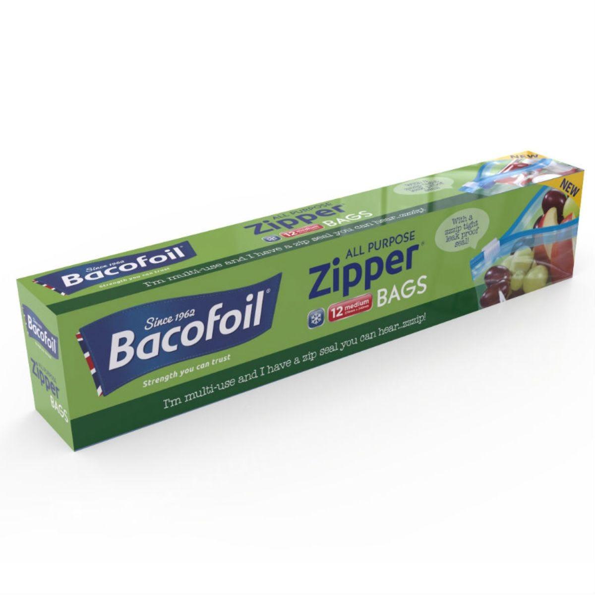 Bacofoil Medium Zipper Bags – 12 Pack