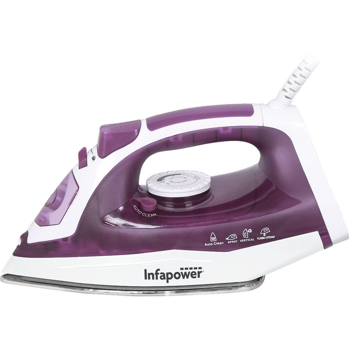 Infapower X603 2400W Steam Iron – White & Purple