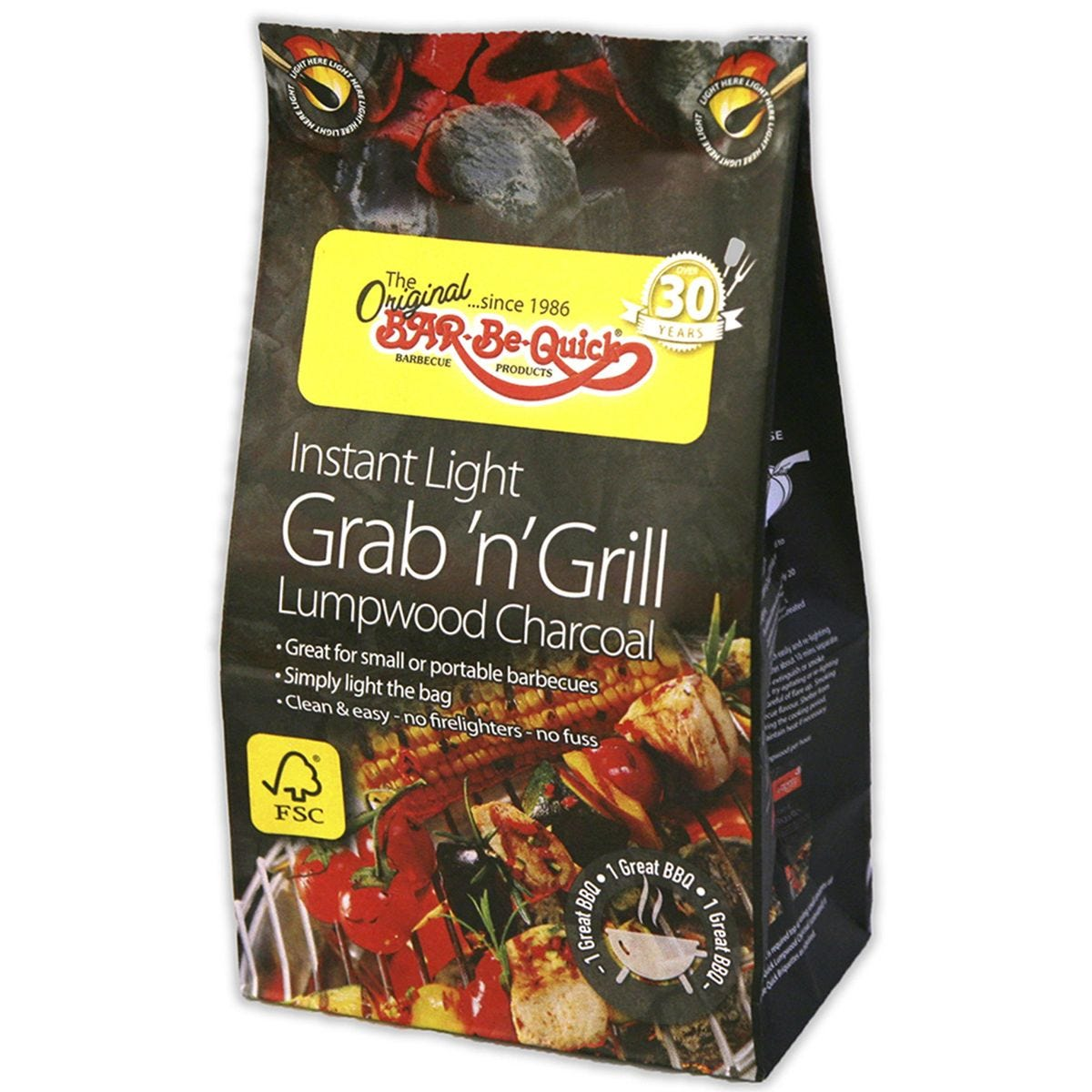 Bar-Be-Quick Instant Light Charcoal - 500g