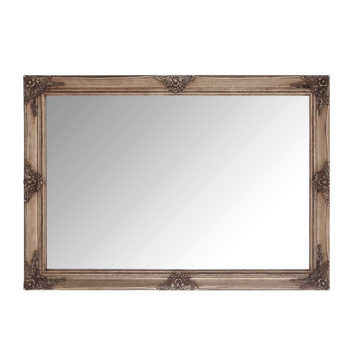 Premier Housewares Baroque Rectangular Wall Mirror - Gold