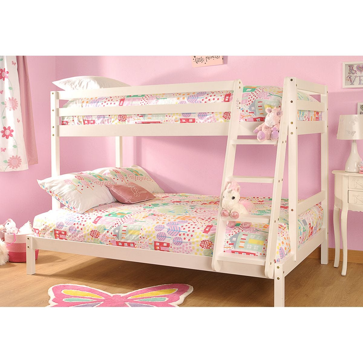 Bexley Single Triple Bunk Bed - White
