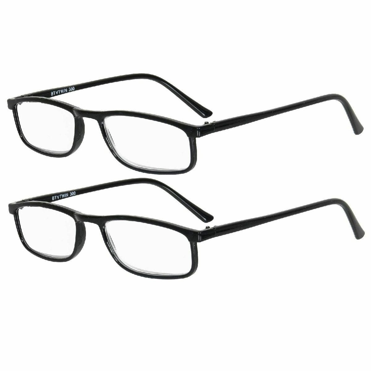 Betaview Duo Pack Strength 2.0 Unisex Reading Glasses - Black