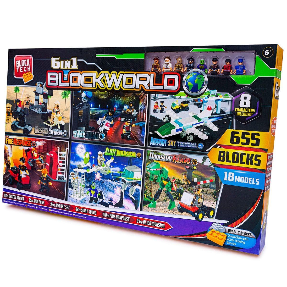 6 in 1 Blockworld Model Set