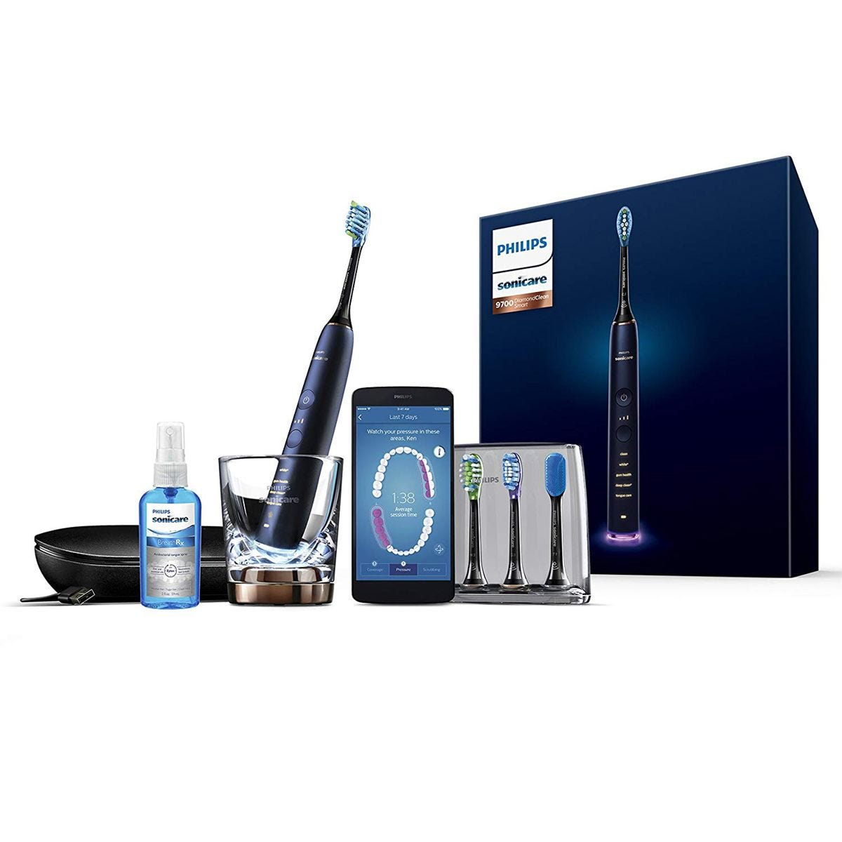 Philips Diamond Clean Smart Electric Toothbrush - Blue