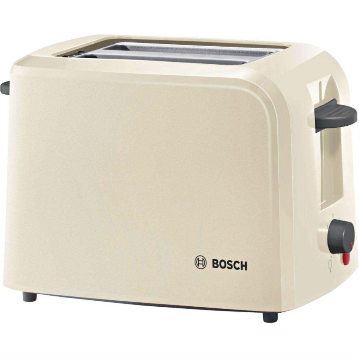 Bosch TAT3A0175G Village Collection 2–Slice 980W Toaster – Cream