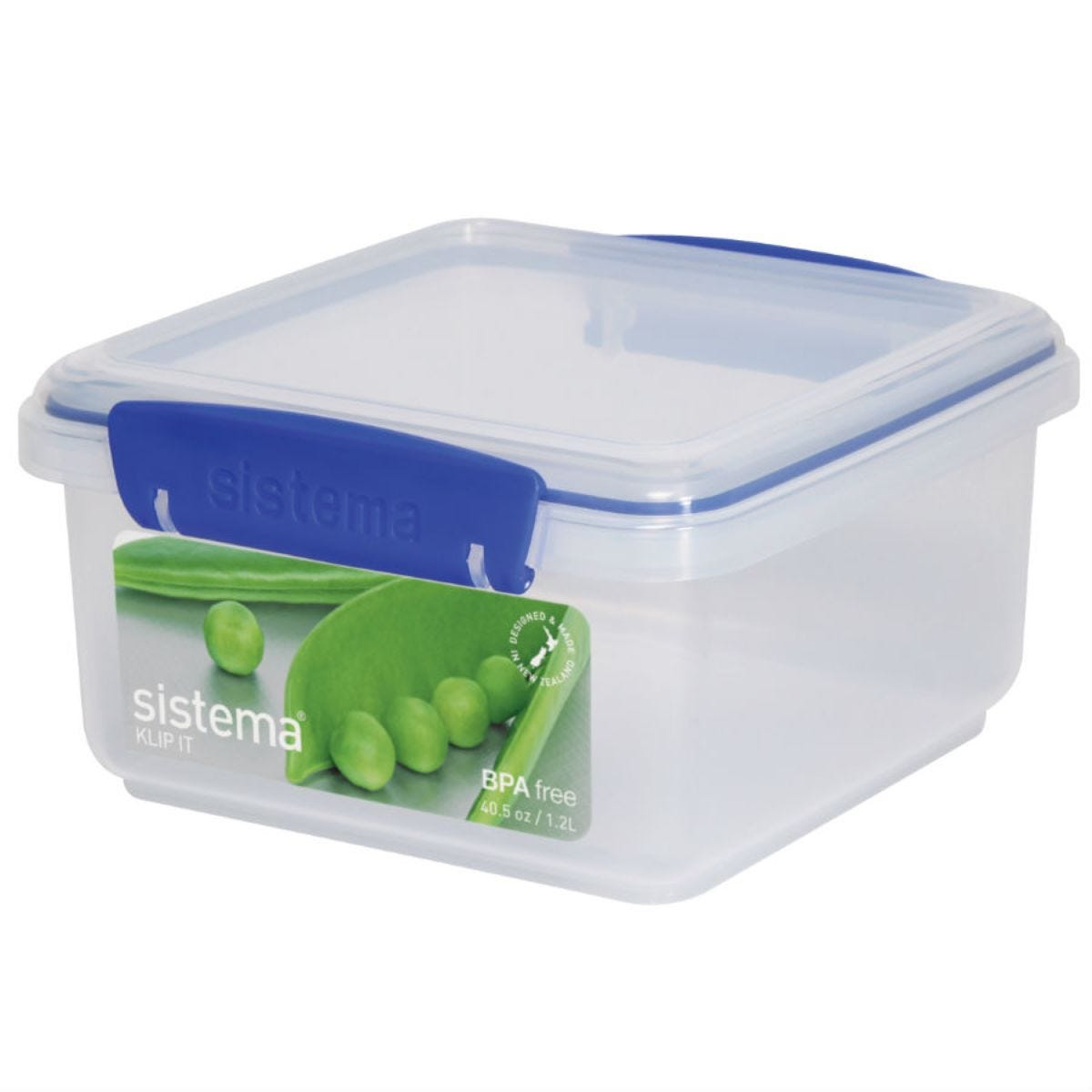 Sistema 1.2L Lunch Plus KLIP IT Stackable Food Storage Container