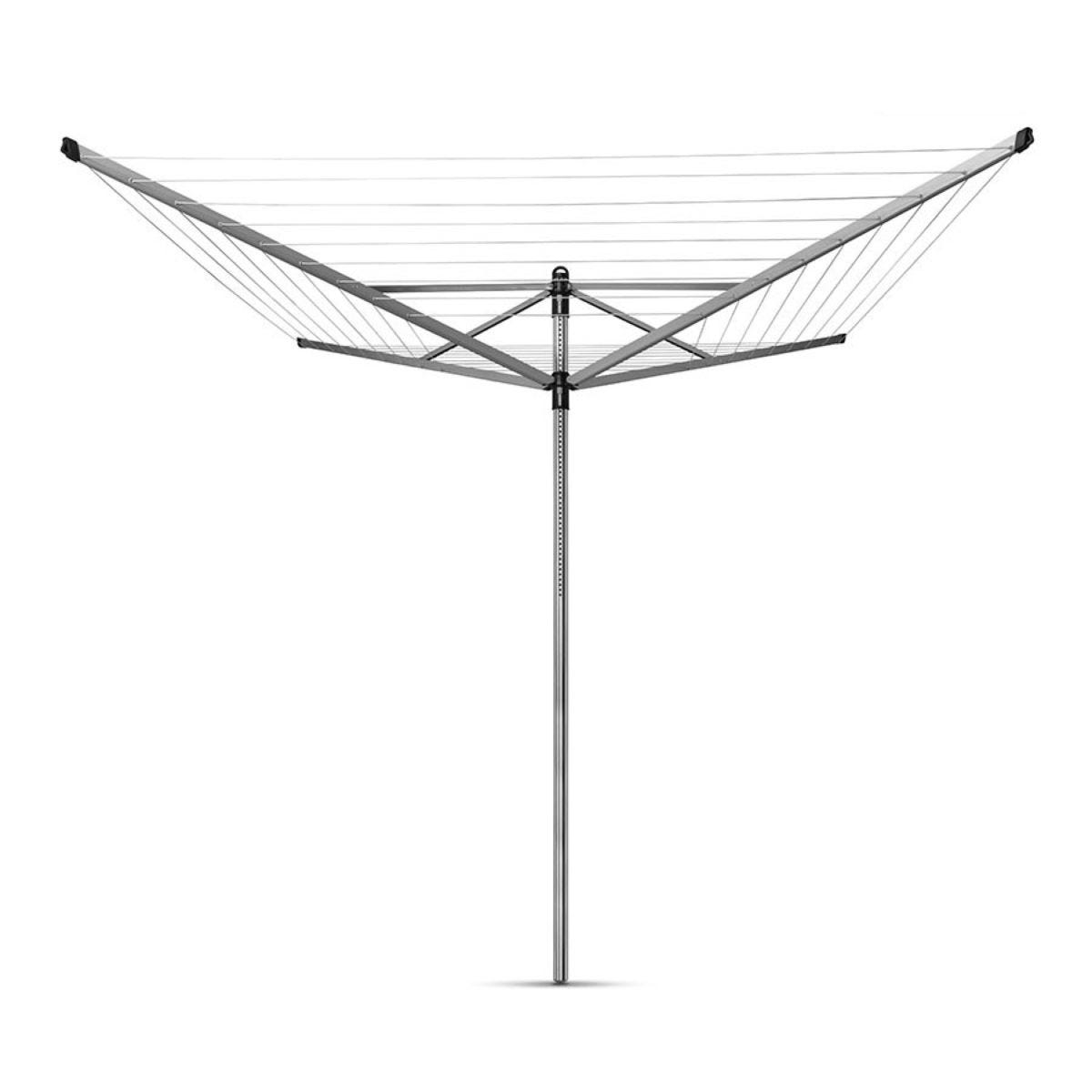 Brabantia Lift-O-Matic 50m 4-Arm Rotary Airer with Ground Spike
