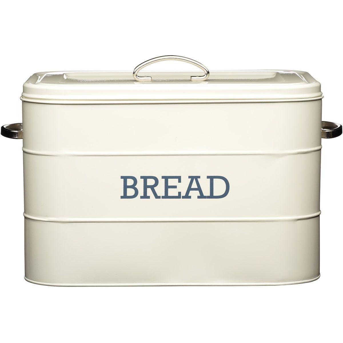 KitchenCraft Living Nostalgia Bread Bin - Cream