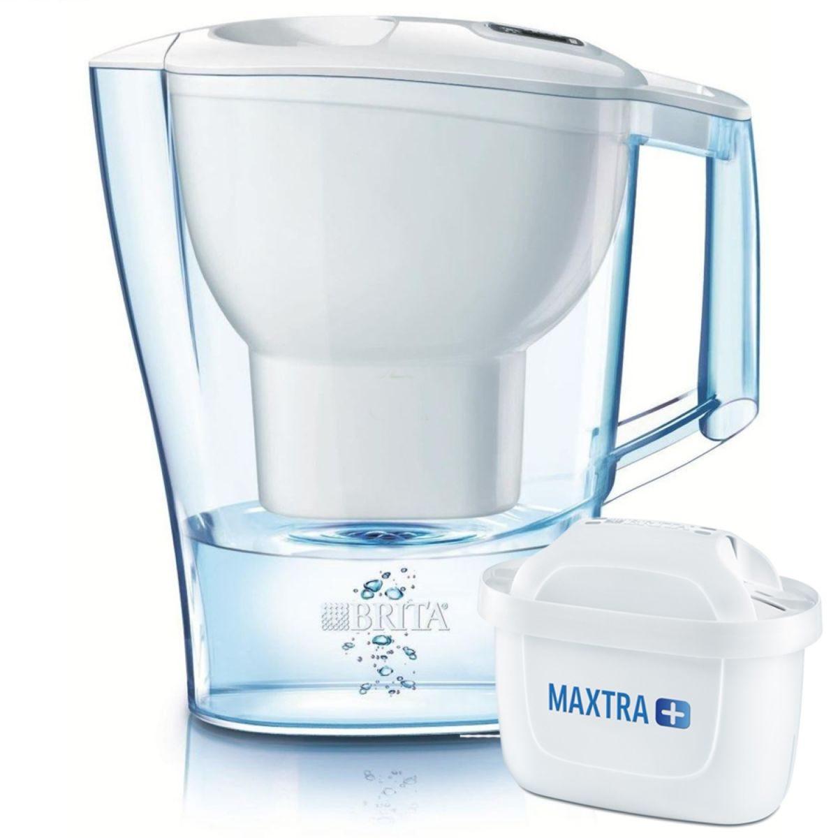 Brita Maxtra+ Aluna Cool Water Filter 2.4L Jug - White