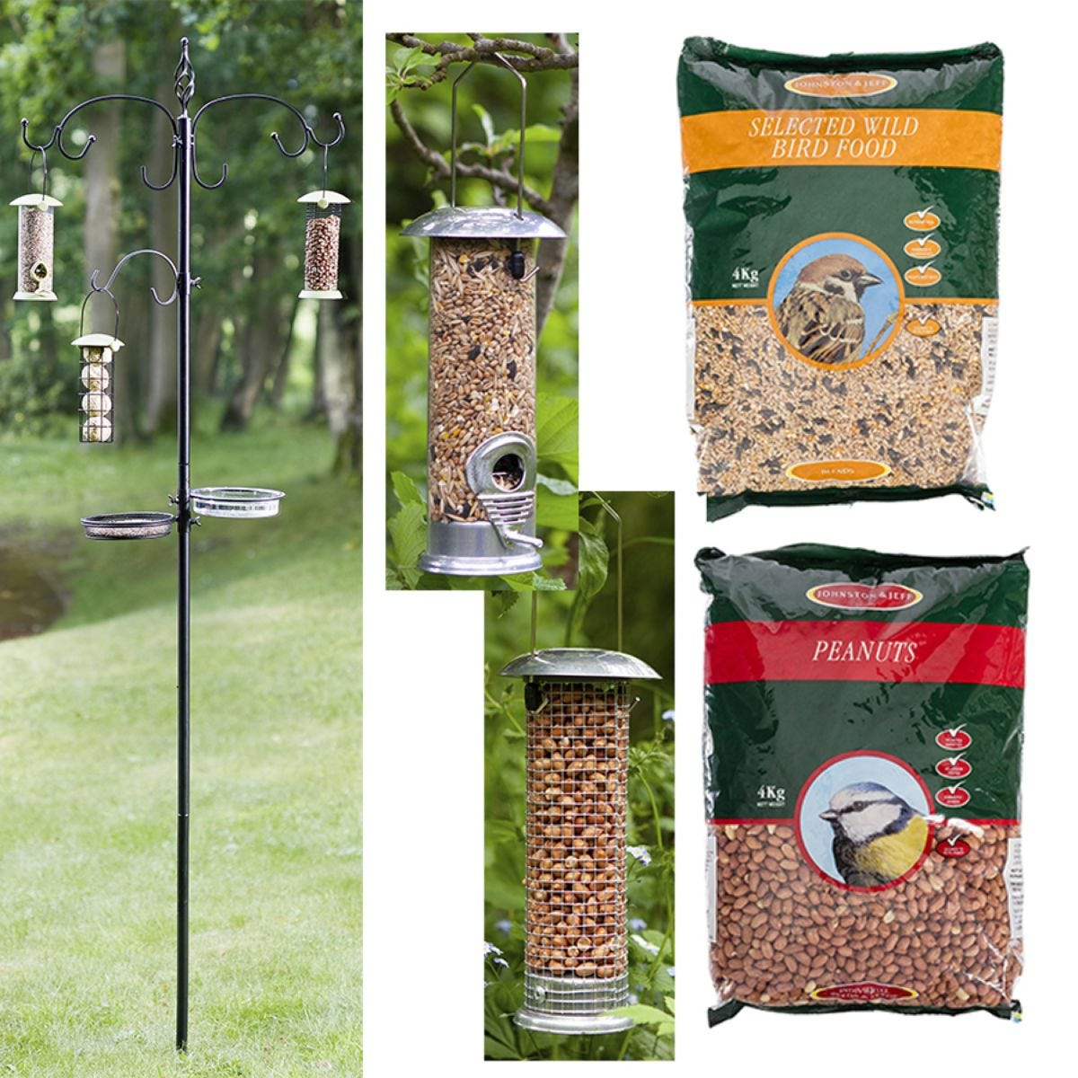 Smart Garden Bird Feeding Station with Feeders and Feed