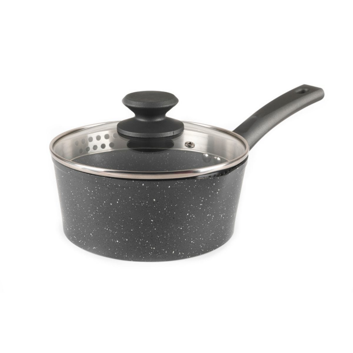 Salter Easy Pour Grey Saucepan - 18cm