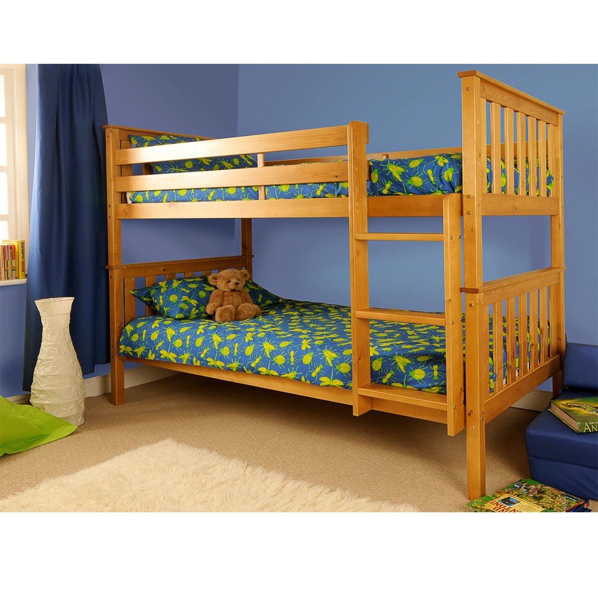 Chelsea Single Bunk Bed - Caramel