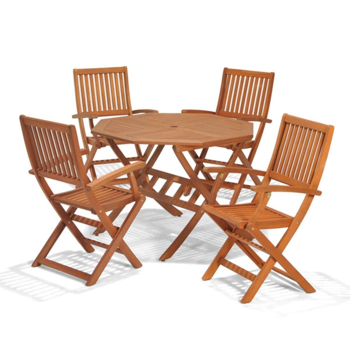 Robert Dyas FSC Country Hardwood 4-Seater Dining Set