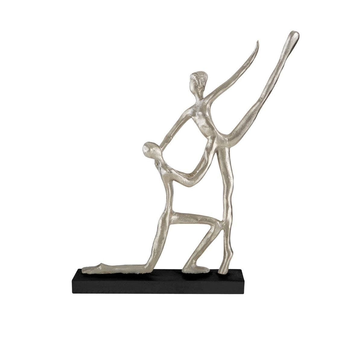 Premier Housewares Dance Couple Figurine - Silver/Black