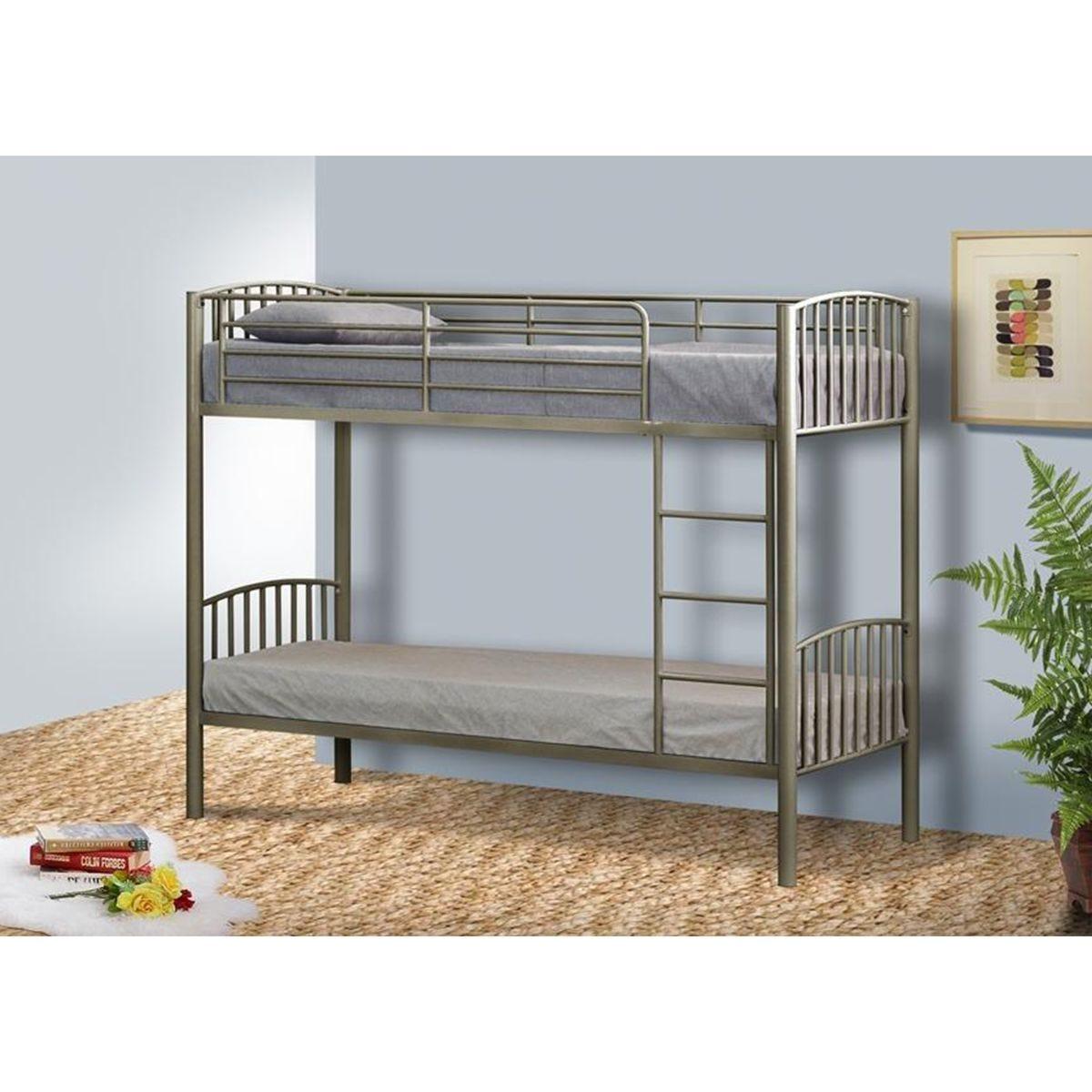 Dakota Bunk Bed - Silver